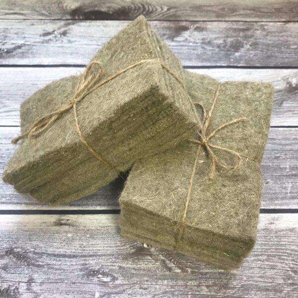 Льняные коврики для микрозелени